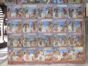 Exterior fresco of the twenty toll-houses, 1850